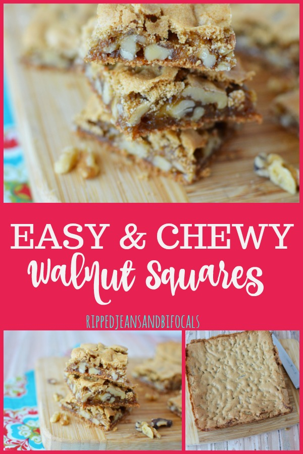 Chewy Walnut Squares|Ripped Jeans and Bifocals