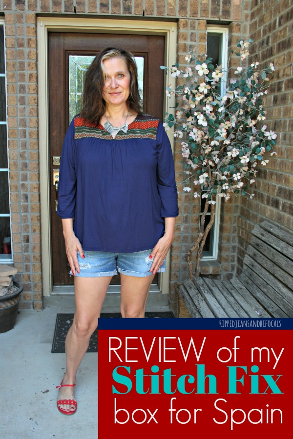Stitch Fix Review Box Ripped Jeans and Bifocals