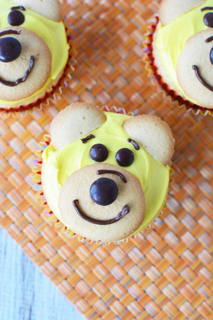 Make these adorable Winnie the Pooh cupcakes inspired by Christopher Robin
