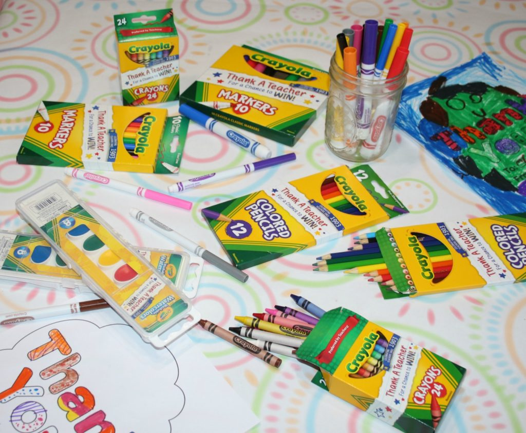 Thank a Teacher and win fun Crayola prizes|Ripped Jeans and Bifocals