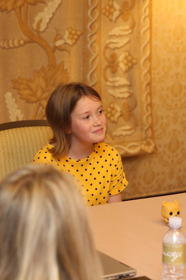 Behind the scenes of Disney's Christopher Robin - Interview with Bronte Carmichael #ChristopherRobinEvent
