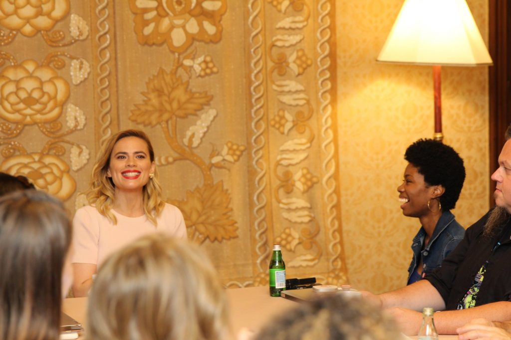 The reason why moms are virtual high five-ing Evelyn Robin - Interview with Hayley Atwell #ChristopherRobinEvent