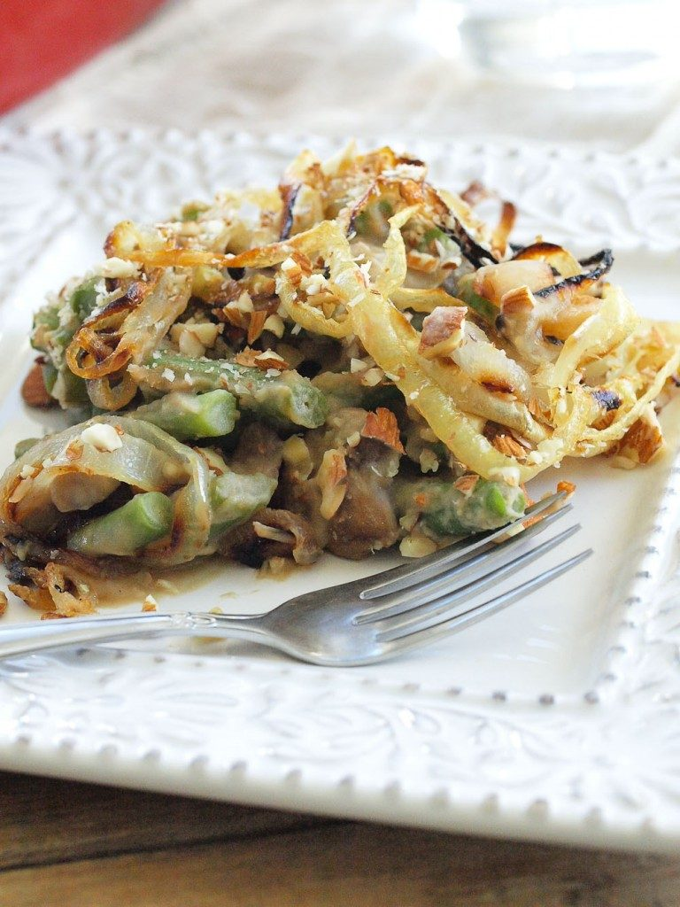 Healthy Thanksgiving Side Dish green bean casserole makeover