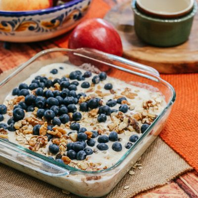 Envy apple and blueberry baked oatmeal