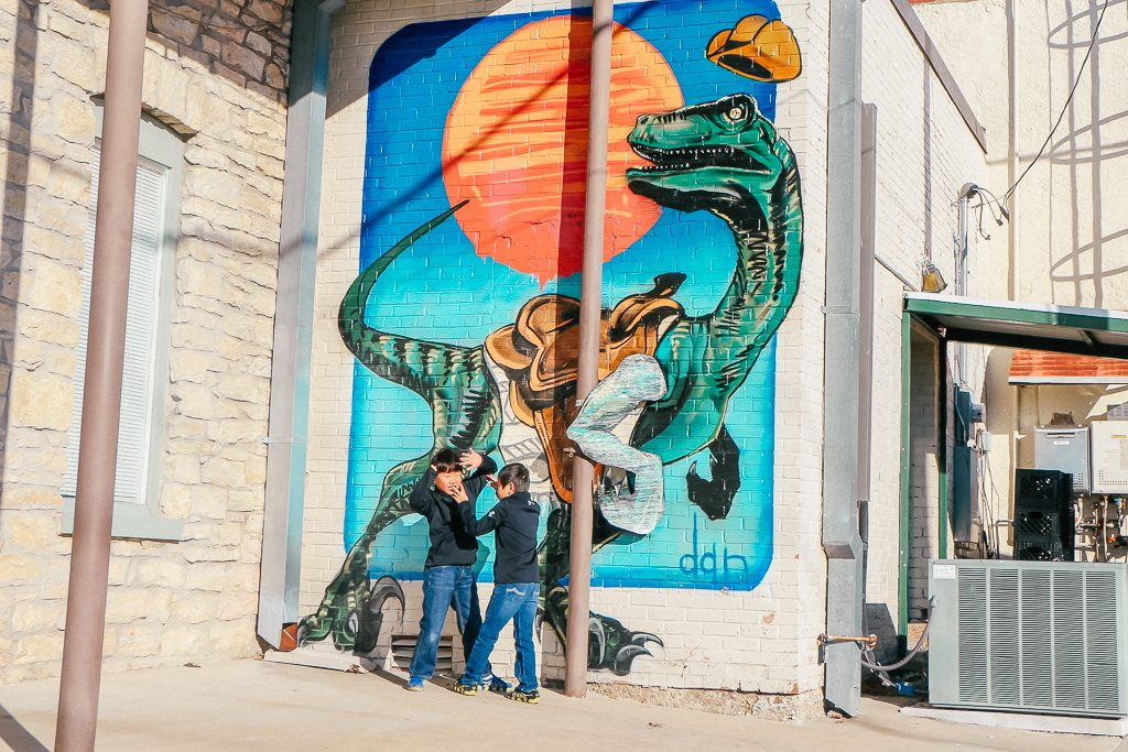 Best places to take Instagram Photos in Decatur Texas|T Rex Mural in Decatur Texas