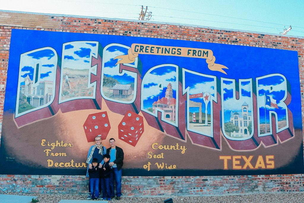 Best places to take Instagram Photos in Decatur Texas|Greetings from Decatur Texas mural