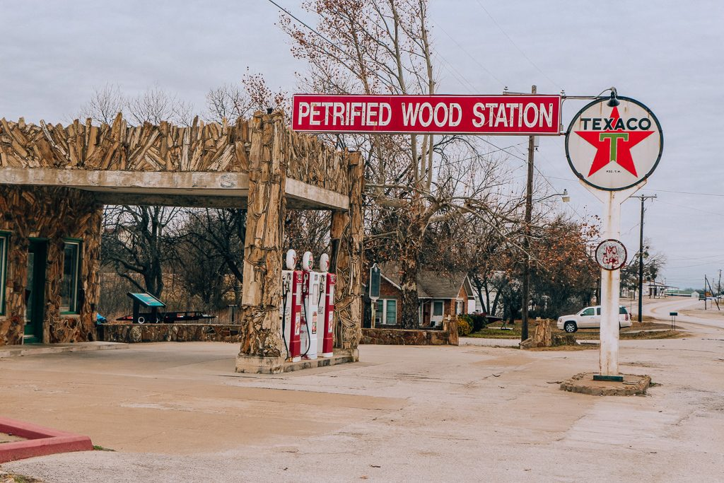 Best places to take Instagram Photos in Decatur Texas|Petrified Wood Gas Station in Decatur Texas