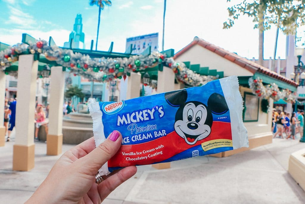 Open to close touring plan for Disney's Hollywood Studios|Picture of a Mickey Bar in the wrapper