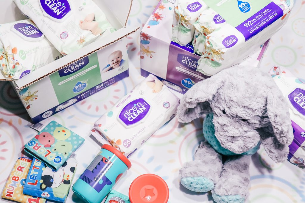 How to get your house ready for a baby...a visiting baby, that is!|Ripped Jeans and Bifocals|Lots of baby wipes on a table with baby toys