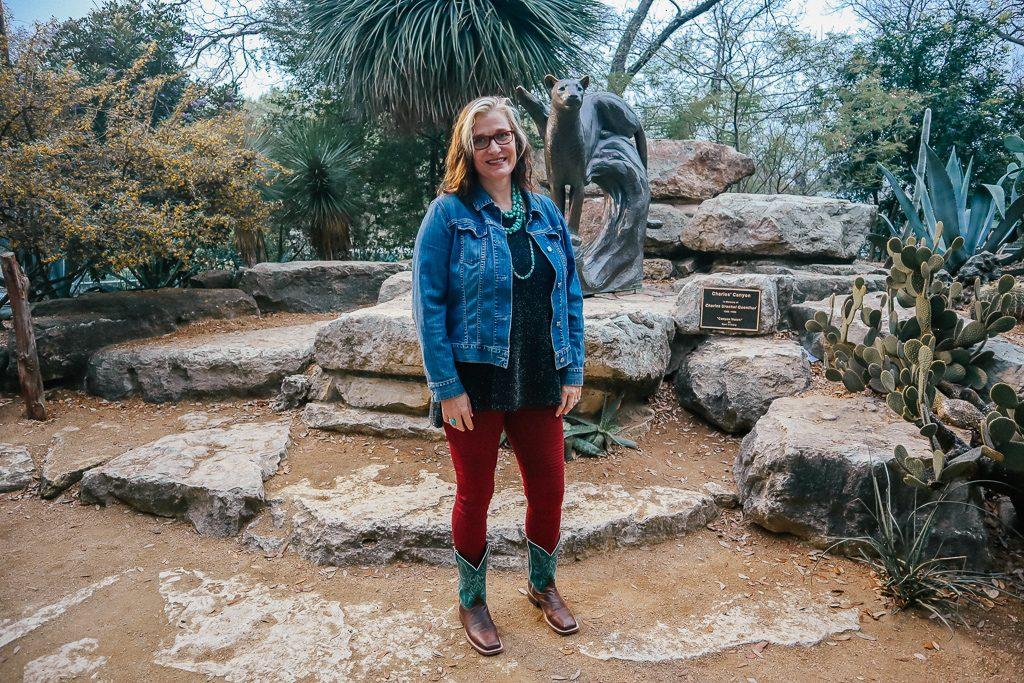 The San Antonio Zoo welcomes two new rhinos Woman wearing cowboy boots and Texas Chic at San Antonio Zoo