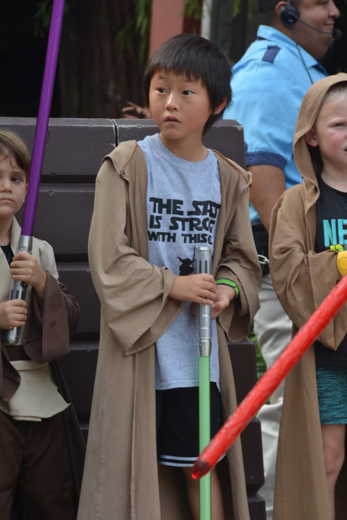 Open to close touring plan for Disney's Hollywood Studios|Little boy dressed like a jedi