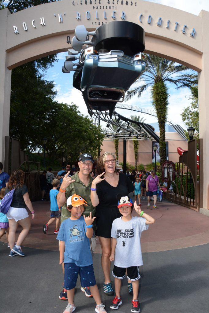 Open to close touring plan for Disney's Hollywood Studios|Family in front of the G Force Records sign at Disney's Hollywood Studios