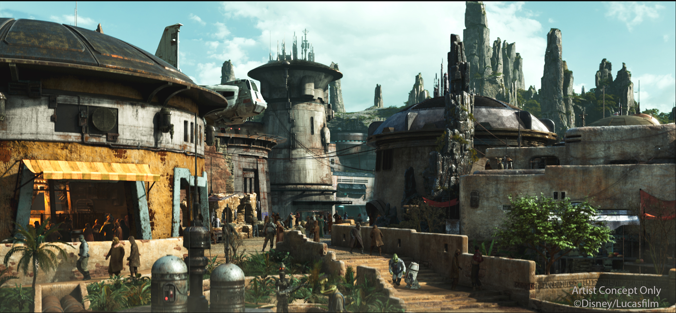 Star Wars Land Planning Disneyland|Star Wars Land Planning Disney World