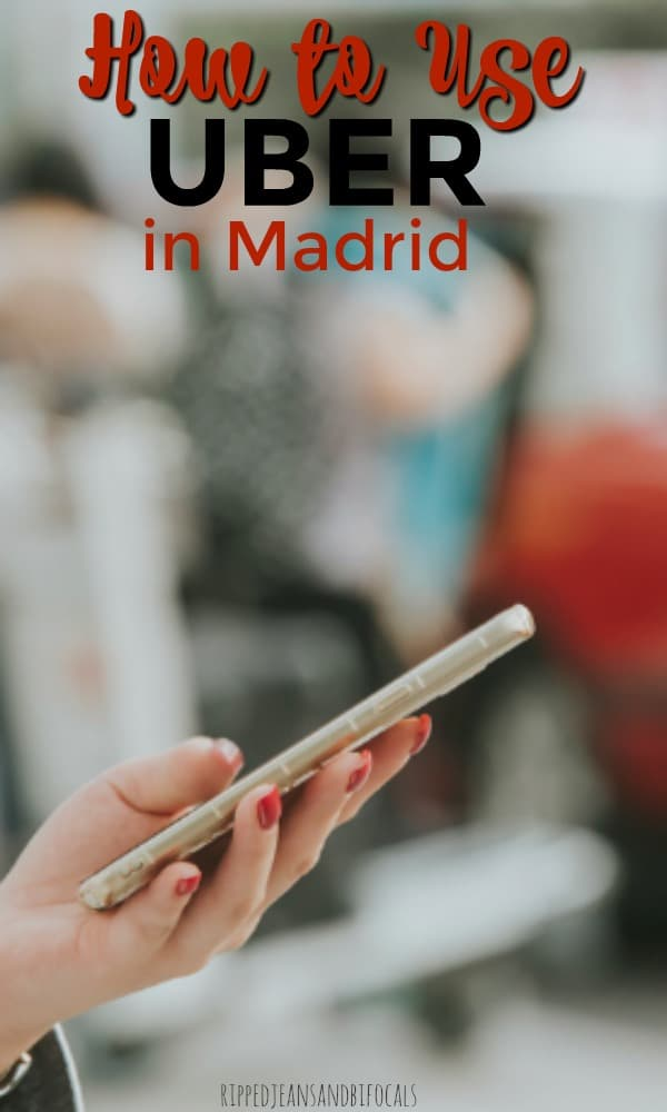 how to use uber at the madrid airport