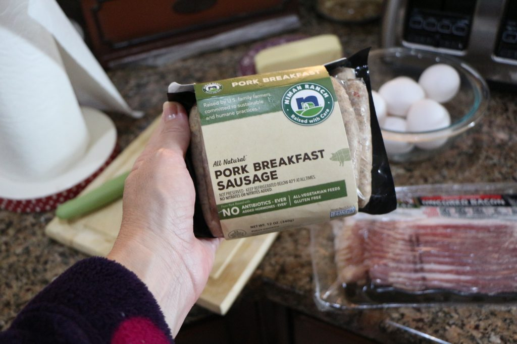 Breakfast sausage from Perdue family bundle