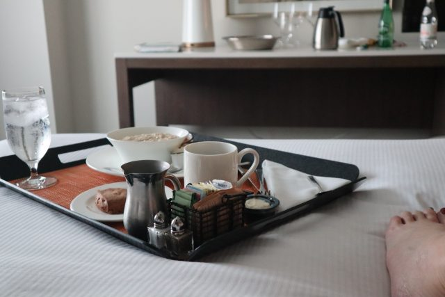 Room service breakfast makes this one of the best hotels for Disney Princess Half Marathon