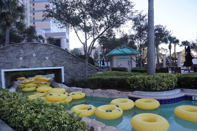 The pool at Hilton Orlando Bonnet Creek is primo and it's a great place to relax after the Disney Princess Half Marathon