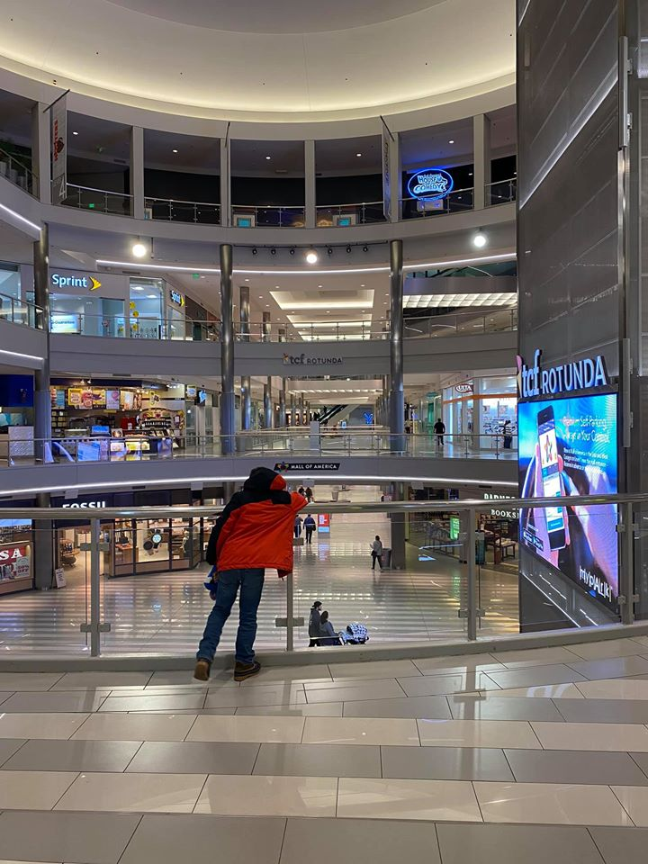 Little boy looking out over mall of America - a parent guide to Mall of America