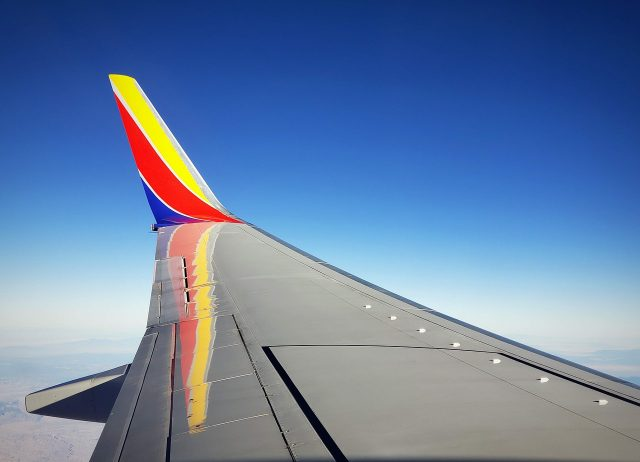 Southwest Airlines Airplane Wing