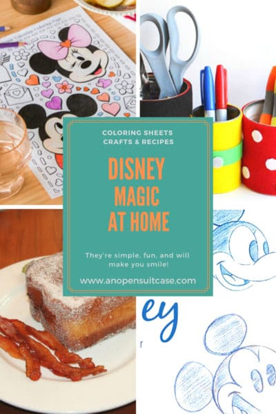 Disney printables crafts and recipes