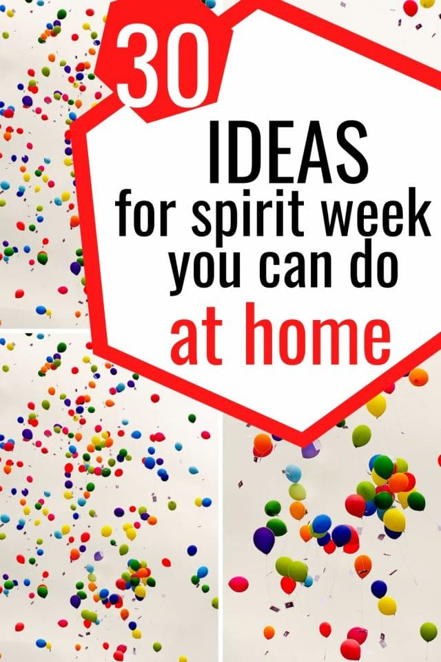 ideas for spirit week at home