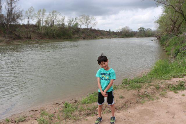 Boy next to Colorado River