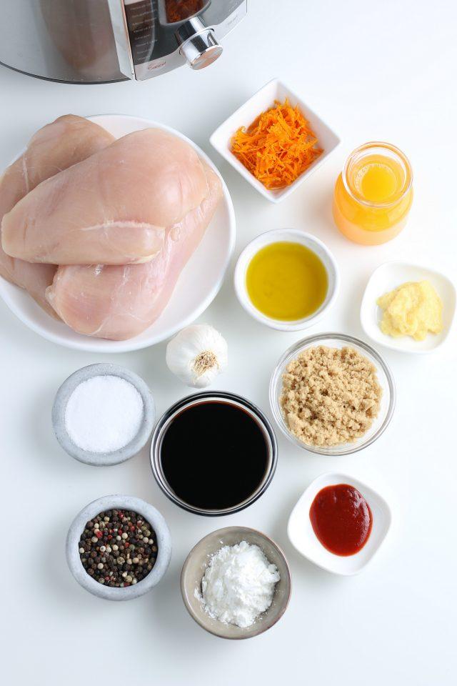 Ingredients for Instant Pot Orange Chicken