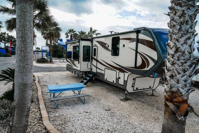 Travel Trailer at South Padre Island Texas