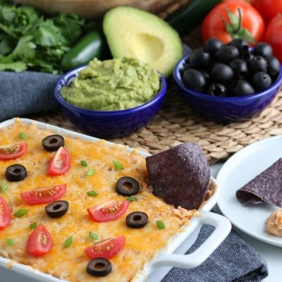 Party Worthy Refried Bean Dip