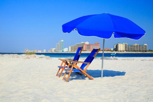 Beach chairs in Gulf Shores Alabama