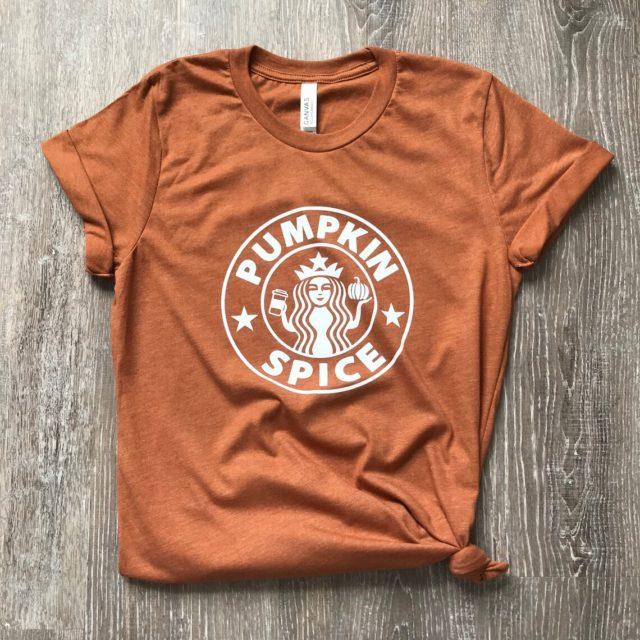 Pumpkin Spice Starbucks tee shirt