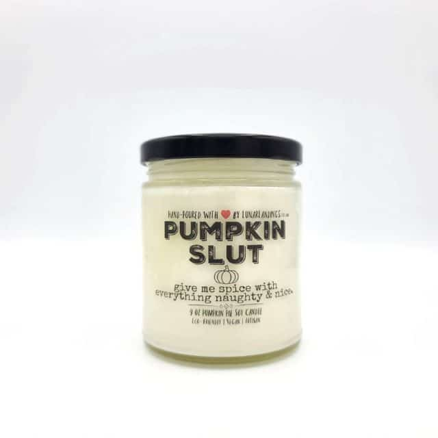 Pumpkin candle on Etsy