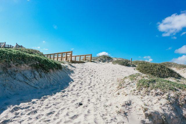 Sand dunes on Mustang Island