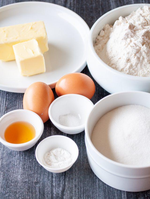ingredients for sugar cookie bars