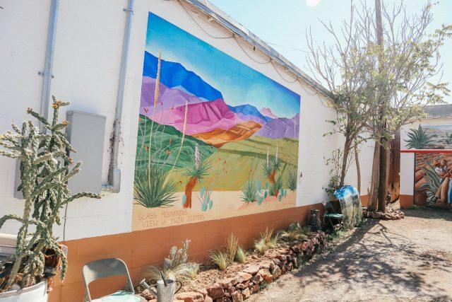 murals in Alpine in West Texas
