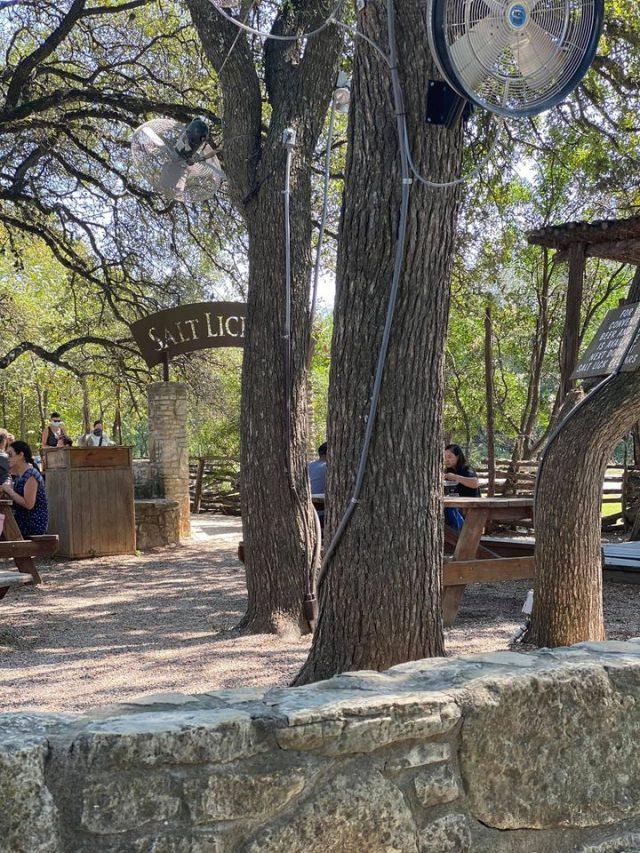 Patio at Salt Lick BBQ Driftwood TX