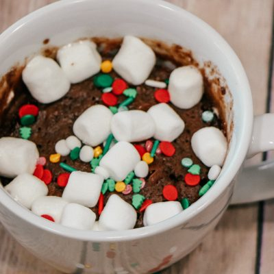 Microwave Hot Cocoa Mug Cake