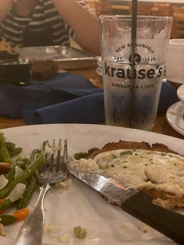 Schnitzel at Krause's in New Braunfels