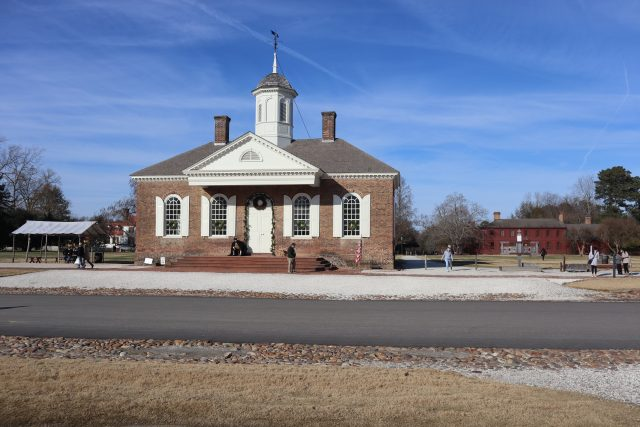 Courthouse in Colonial Williamsburg