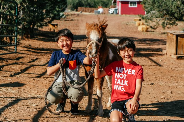 Kids at Wassermann's Wranch near Alpine