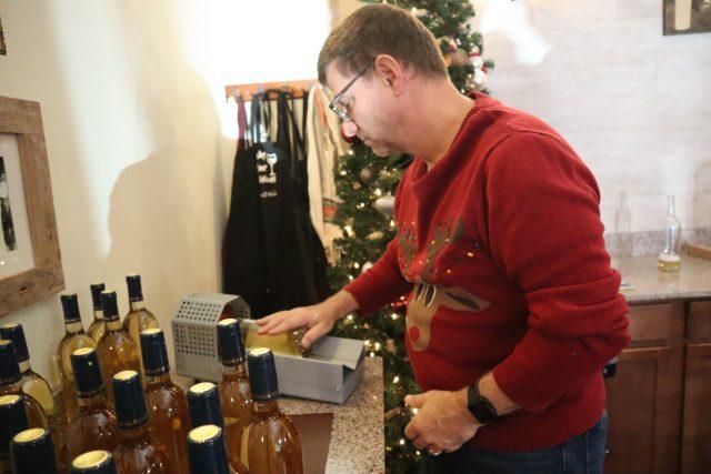 Making wine at New Braunfels Water 2 Wine