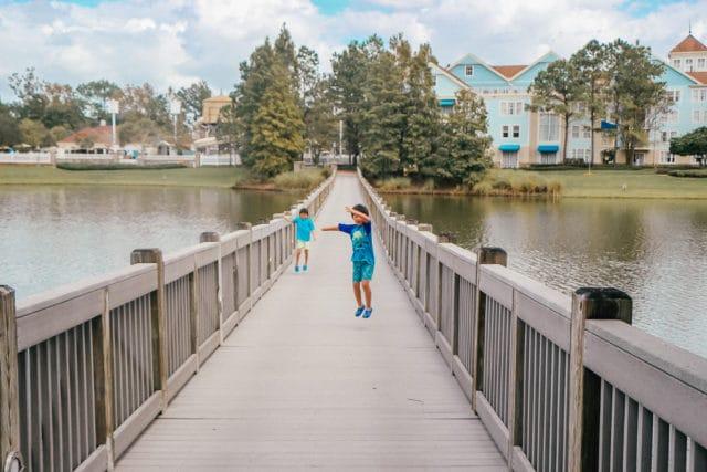 Two boys at Disney's Saratoga Springs Resort