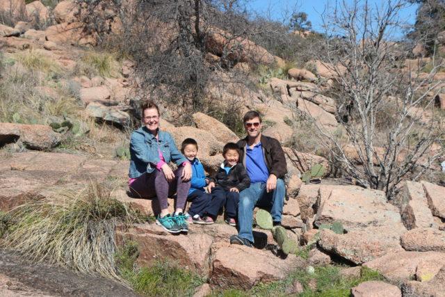 Family at Enchanted Rock
