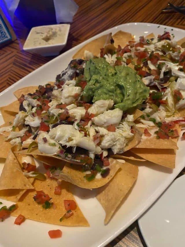 crab nachos at todd english's bluezoo