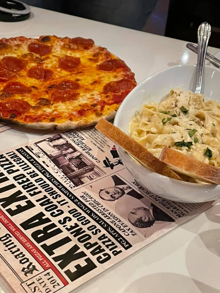 Pizza and pasta at Capone's