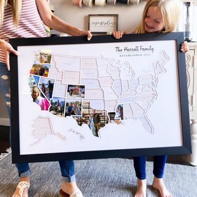 50 states map from Etsy